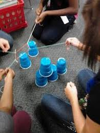 Challenge Do You Tie Team Building Task The Cup Challenge Take A Rubber Band And Tie