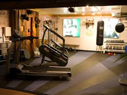 home gym design for garage decorin