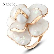 rings bridal online shop nandudu high quality hot sale blooming enamel flower