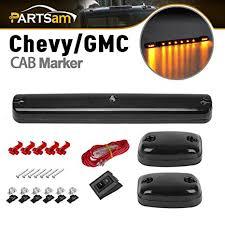 oem chevy cab lights amazon com partsam 3xsmoke cover lens amber 12 led cab marker roof
