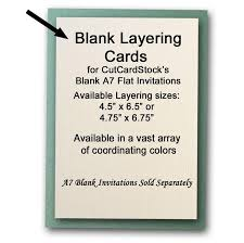 blank invitations a7 layering cards for blank 5x7 invitations 25 pk cutcardstock