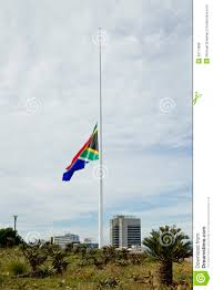 Flags For Sale South Africa South African Flag At Half Mast Stock Photo Image Of Democracy