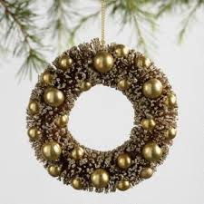 bottlebrush retro wreath ornaments set of 3 world market