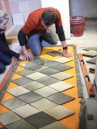 Lay Floor Tiles Flooring How To Lay Floor Tile Create An Inlaid Rug Tos Diy In
