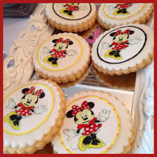 edible print butter cookies with edible print of minnie mouse minnie mouse