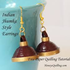 quilling earrings tutorial pdf free download tutorial how to make paper quilled jhumka umbrella earrings