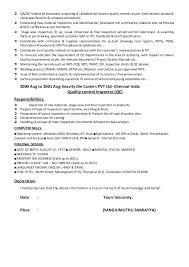 Inspector Resume Sample by Qc Inspector Resume Pdf Contegri Com