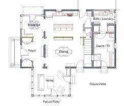 Colonial Floor Plans Open Concept Opening Up A Small 1940 U0027s Colonial U2013 Braitman Design Studio