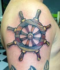 boat wheel tattoos