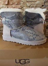 s ugg australia mini bailey bow boots ugg australia mini bailey bow snake boot metal sz 8 eu39 ebay