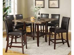 Counter Height Dining Room Table Acme Furniture Idris 7 Piece Counter Height Dining Set With Square