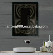 bathroom infinity mirror modern hotel decorative led infinity mirror bathroom with button