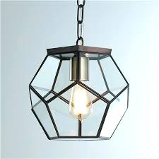 stained glass hanging light shades clear glass prism pentagon