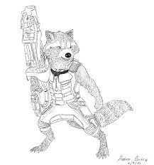 rocket racoon guardians of the galaxy by peabody1999 on deviantart
