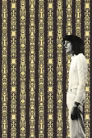 contemporary wallpaper polyester sketch hand printed great