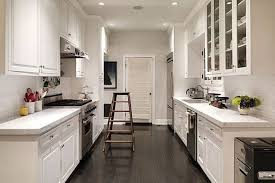galley kitchen designs with island kitchen enchanting two tone black and white galley kitchen