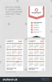 doublesided vertical business card template calendar stock vector