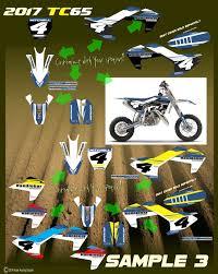 motocross bike graphics husqvarna 2017 tc65 rusk racing custom motocross graphics