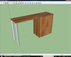 plan de travail sur pied cuisine bien ilot central cuisine bois 9 fabriquer une table plan de