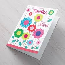 personalised thanks cards from 99p cardfactory co uk