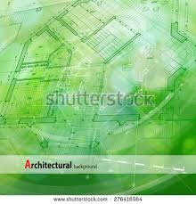 architecture design blueprint house plan green stock vector