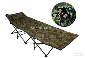 Camping Folding Bed Upgrade Thickening Bed Double Cloth Folding Bed Single Bed Camp