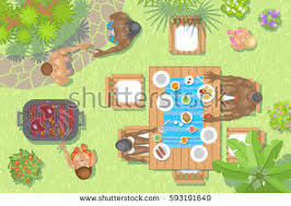 Backyard Clip Art Relaxing In The Backyard Illustration Download Free Vector Art