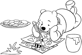 popular character free coloring activity winnie the pooh drawing