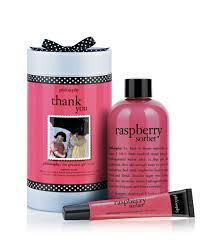 thank you raspberry sorbet gift set philosophy