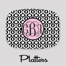 monogrammed platters melamine plates personalized melamine plates stylish outdoor