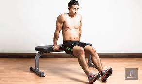 Triceps Bench Dips ว ธ ฝ กท า Triceps Bench Dip