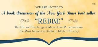 the rebbe book book club the rebbe chabad of bradenton