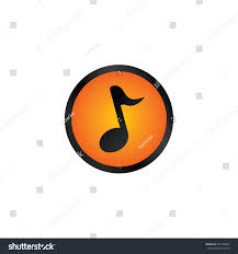 music glossy orange color website internet stock vector 647728063
