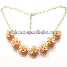 rose flower necklace images Coral rose flower necklace buy flower necklace coral flower jpg