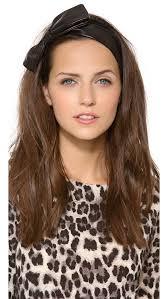 black bow headband eugenia miki black leather bow headband shopbop