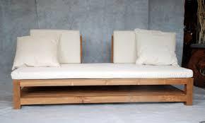 meuble canapé canapé lit en teck meubles en teck uniques