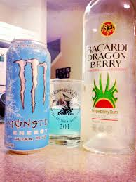 ultra blue dragon drink 1 part bacardi dragon berry rum 2 parts