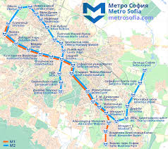 Metro Expo Line Map by Sofia Metro Map Bulgary