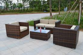 Wicker Patio Table Set Santa Sunbrella Outdoor Wicker Patio Furniture Set San