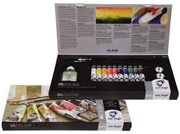 van gogh oil colors combi set containing 10 tubes 20 ml painting