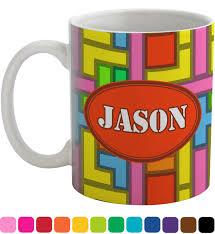 tetris print coffee mug personalized baby milano