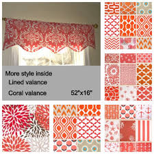 coral window valance coral window valance coral kitchen