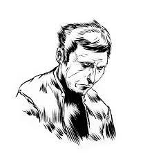 pretty good blog warm up sketch sad guy