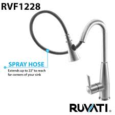 stainless steel kitchen faucets ruvati rvf1228st pullout spray kitchen faucet stainless steel