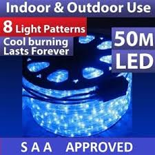 Christmas Rope Lights Australia by 50m Blue Led Outdoor Christmas Rope Light With 8 Function