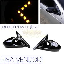 for 88 05 chevy astro van gmc safari power mirrors yellow led turn