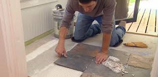 how to lay tile an existing vinyl floor today s homeowner