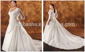 2014 taffeta ball gown plus size wedding dress v neck sheer 3 4