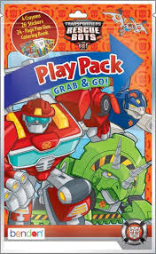 transformers rescue bots coloring book play pack green