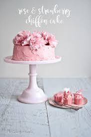 strawberry u0026 rose chiffon cake not quite nigella